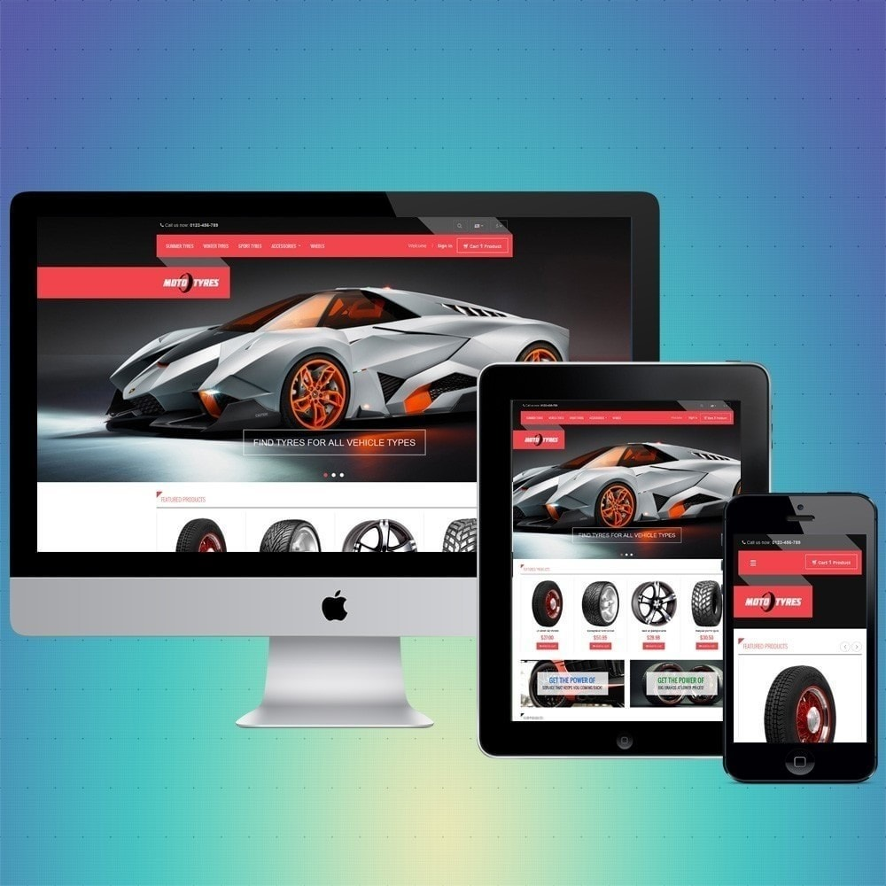 theme - Carros & Motos - VP_Tyres Store - 1