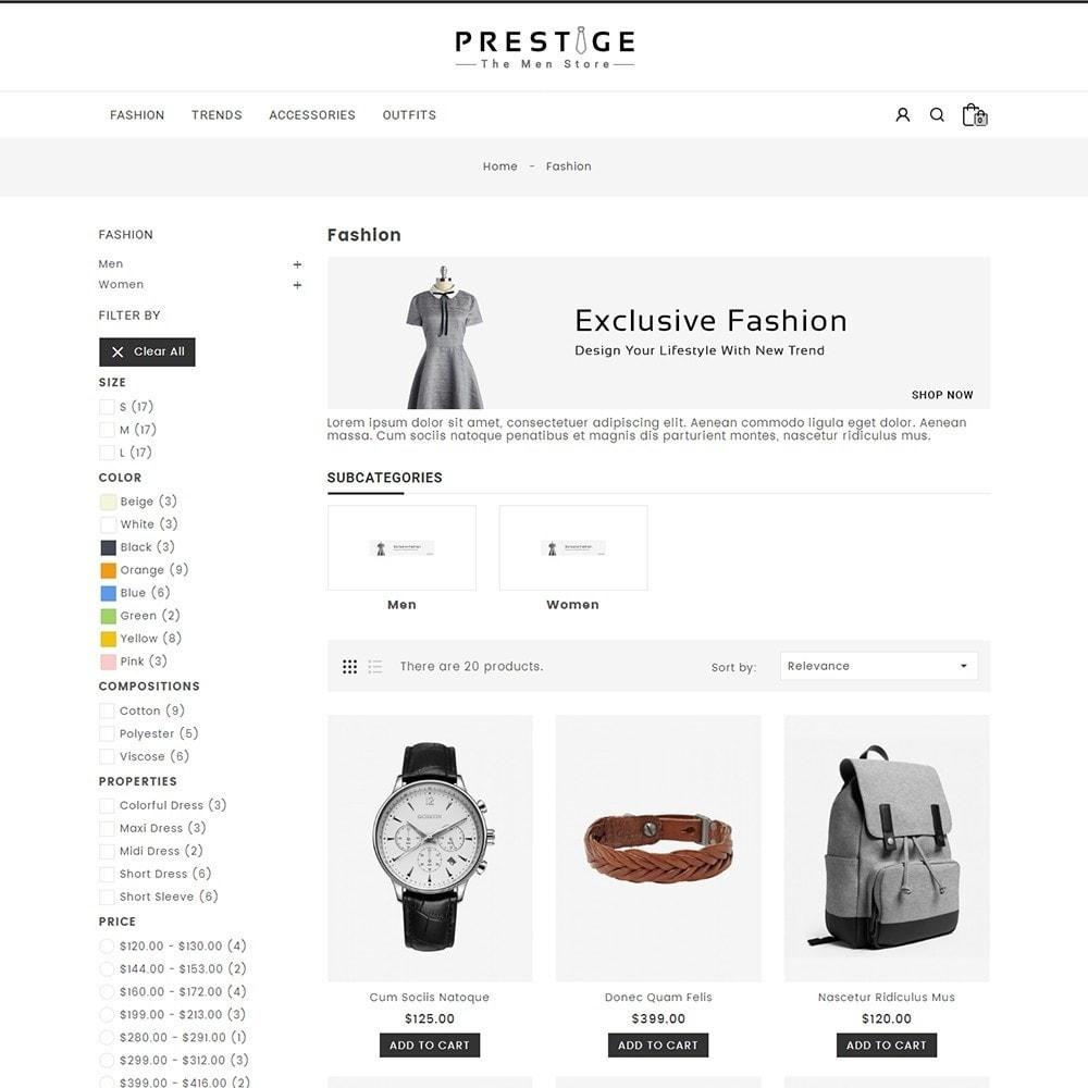 theme - Мода и обувь - Prestige Fashion Store - 3