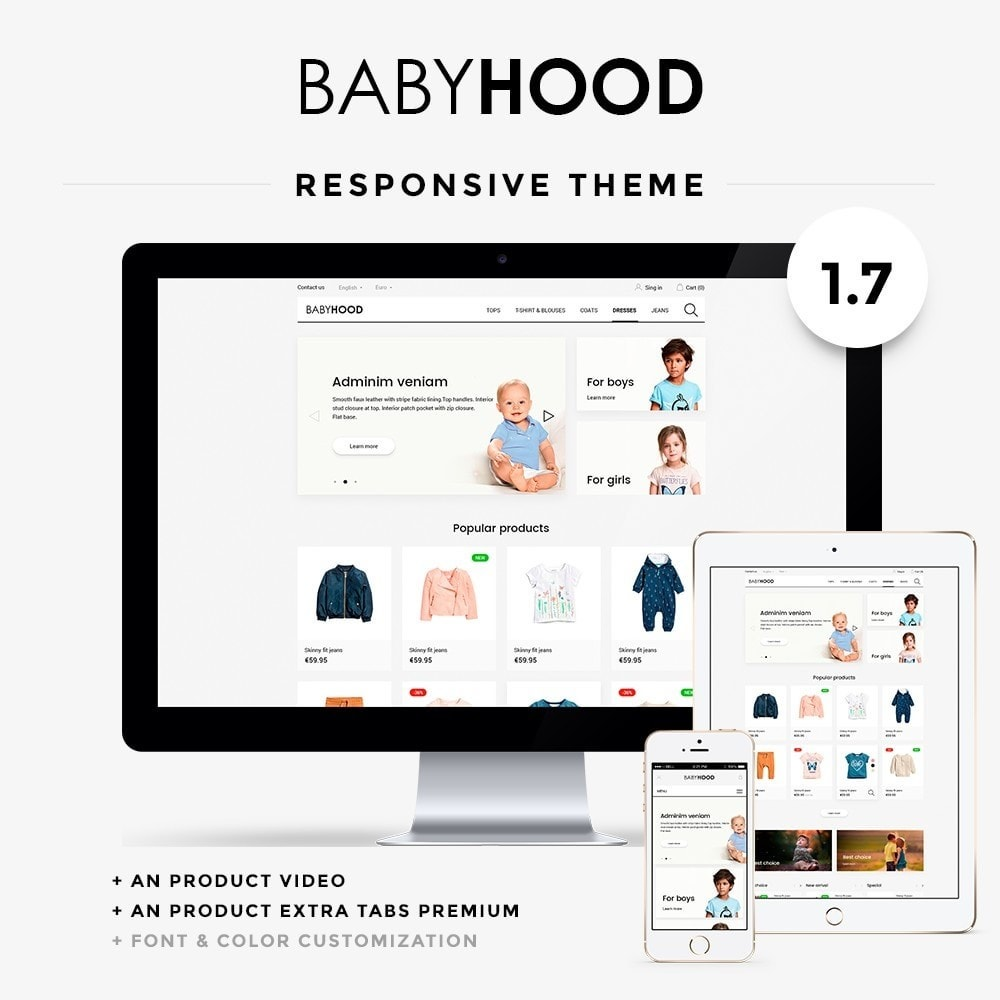 theme - Kids & Toys - BabyHood - 1