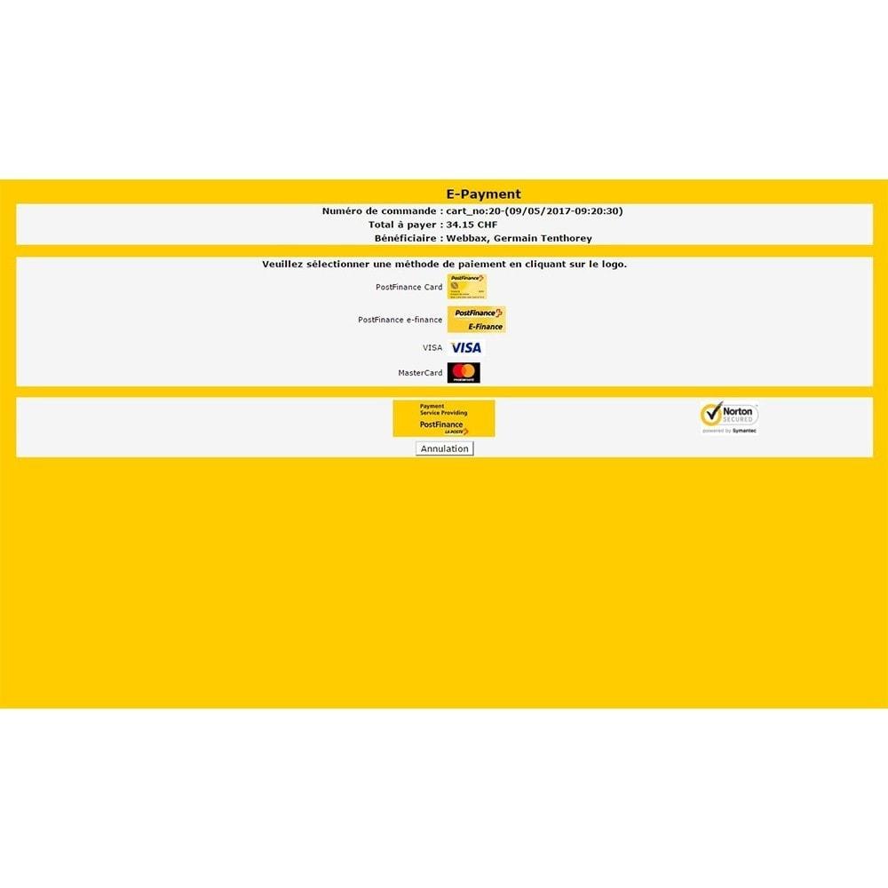 module - Paiement par Carte ou Wallet - PostFinance - 4