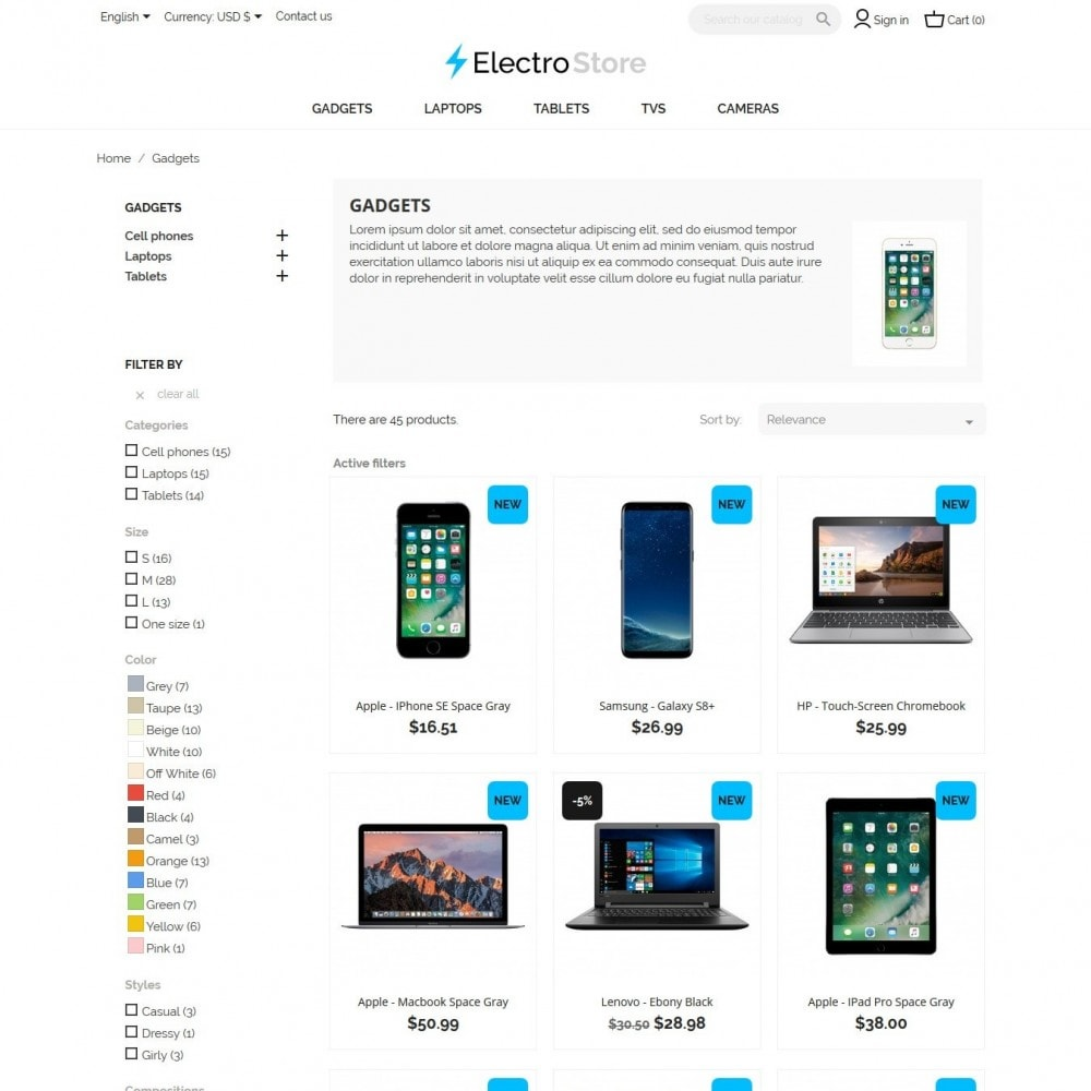 theme - Electronique & High Tech - ElectroStore - 5
