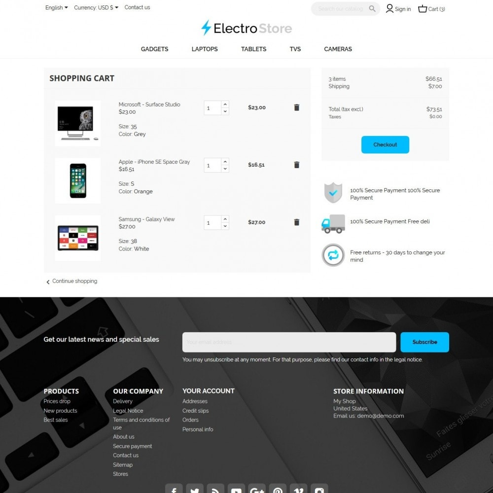 theme - Electronique & High Tech - ElectroStore - 8