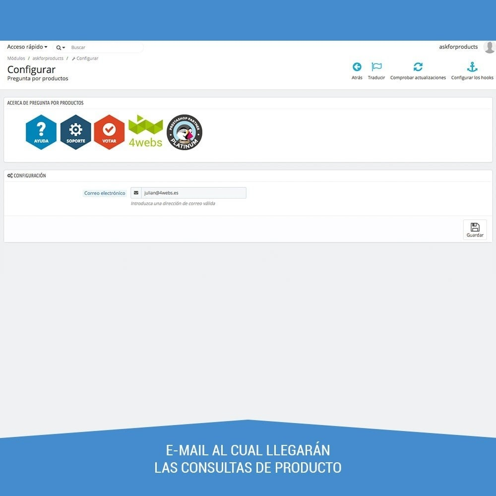 module - Formulario de contacto y Sondeos - Preguntas en ficha de producto - 4