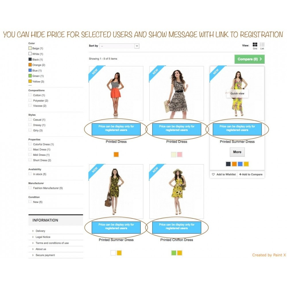 module - Gestion des clients - B2B dissimulation des prix pour clients non autorisés - 1