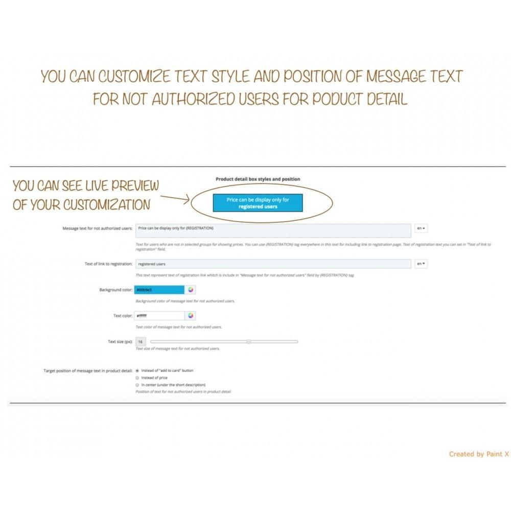 module - Gestion des clients - B2B dissimulation des prix pour clients non autorisés - 6