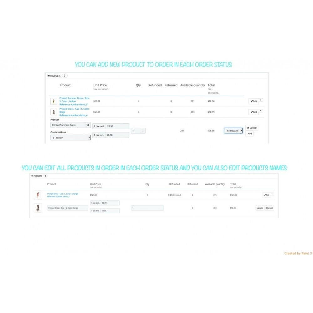 module - Gestion des Commandes - Management des commandes, édition des commandes existantes - 2