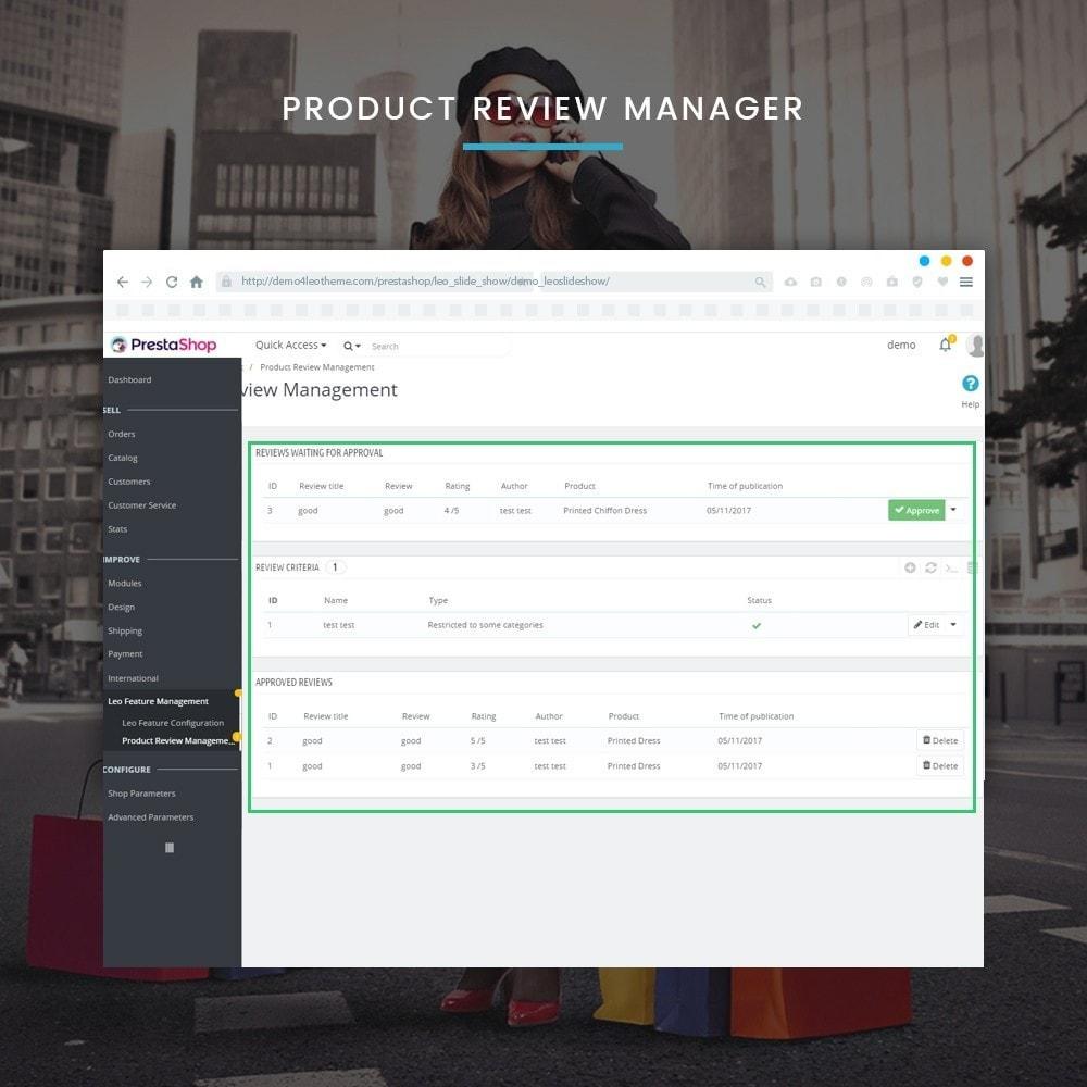 module - Diversificação & Personalização de Produtos - Leo Feature Multipurpose - 11
