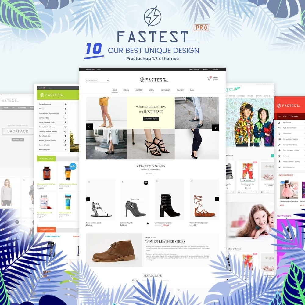theme - Mode & Chaussures - Fastest - Fashion & Accessories Multi Purpose-5 design - 2
