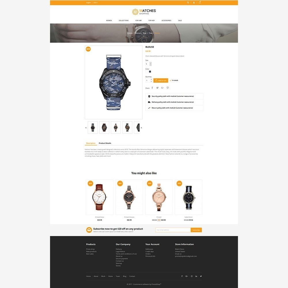 theme - Mode & Chaussures - Watch Store - 4
