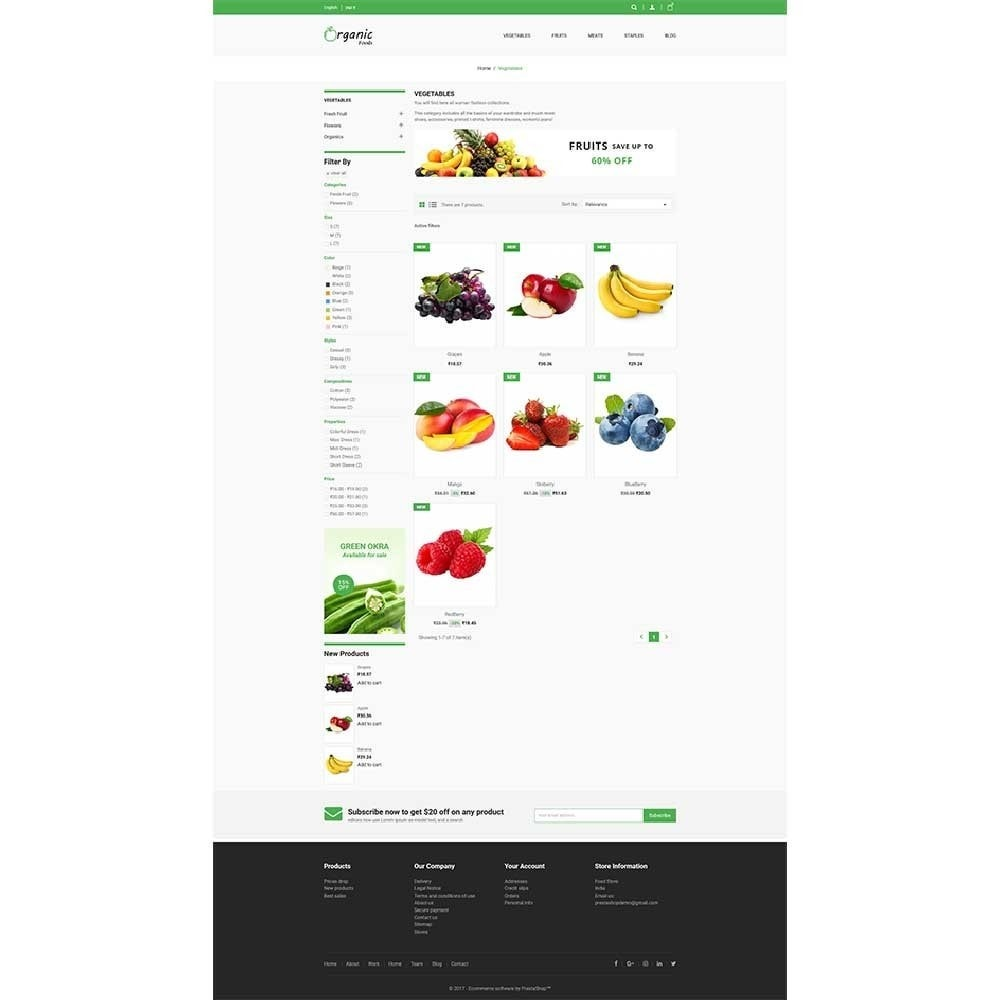 theme - Lebensmittel & Restaurants - Organic Food Store - 2