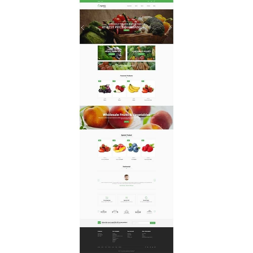 theme - Lebensmittel & Restaurants - Organic Food Store - 3