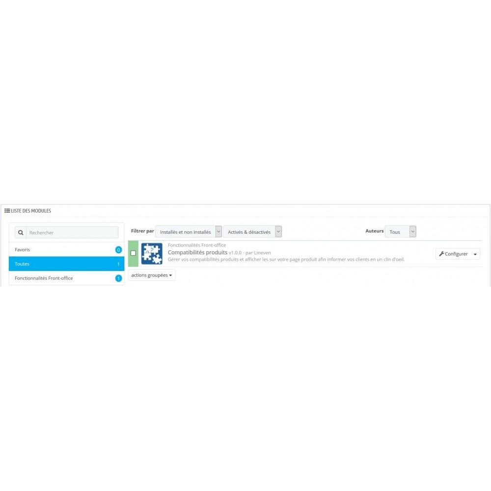 module - Déclinaisons & Personnalisation de produits - Compatibilités Produits - 7