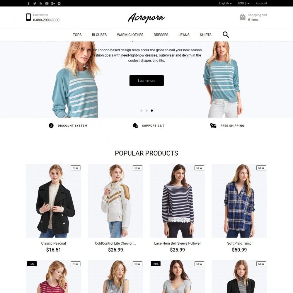 theme - Мода и обувь - Acropora Fashion Store - 2