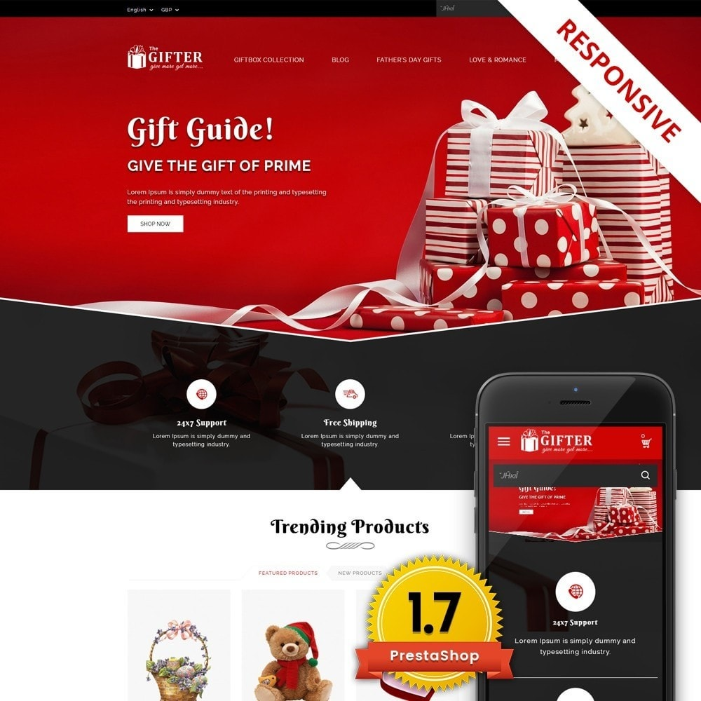 theme - Gifts, Flowers & Celebrations - Gifter - The Gift Store - 1