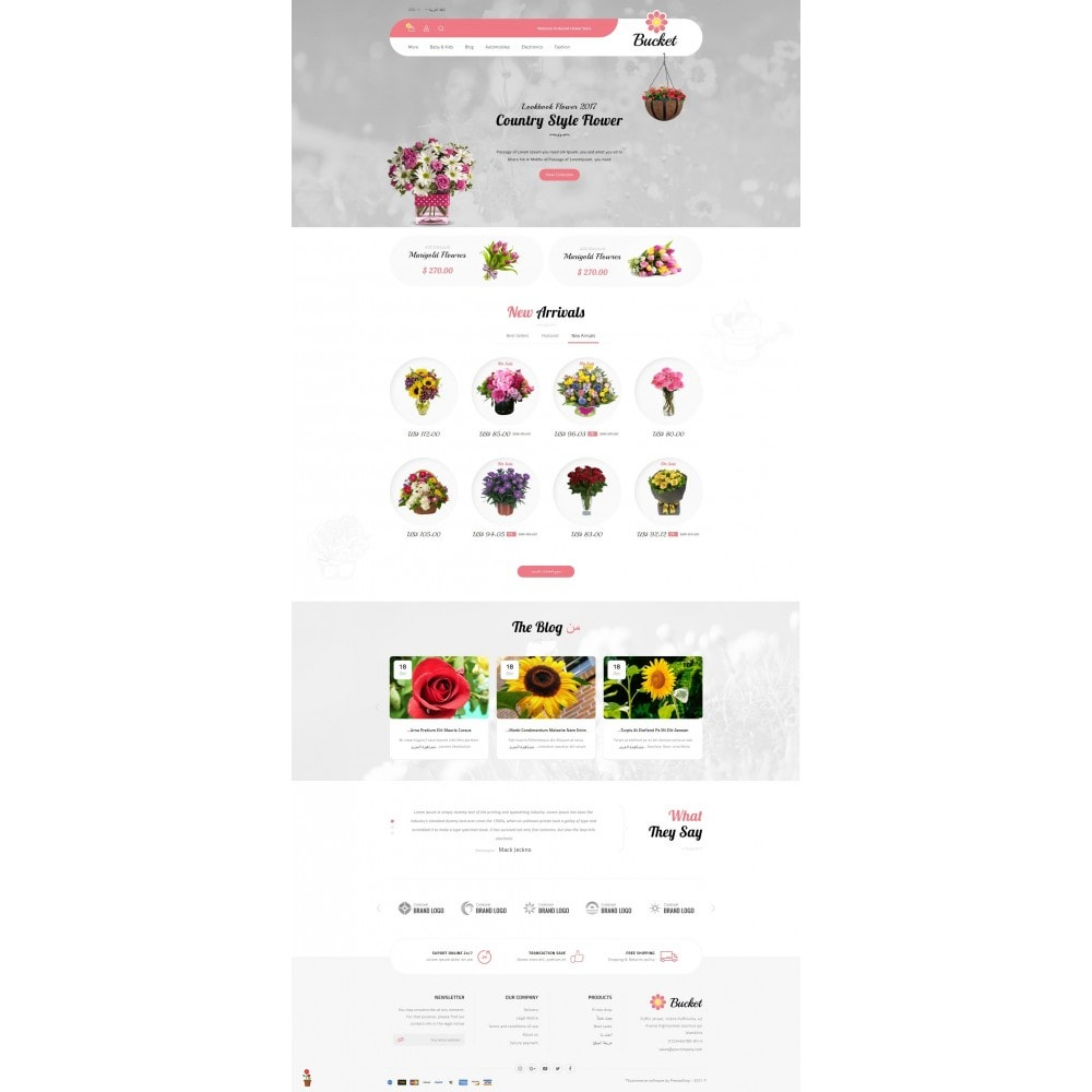 theme - Gifts, Flowers & Celebrations - Bucket Flower Store - 10