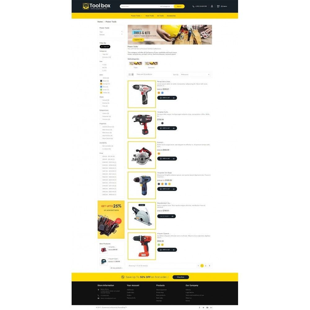 theme - Automotive & Cars - Tools Store - 4