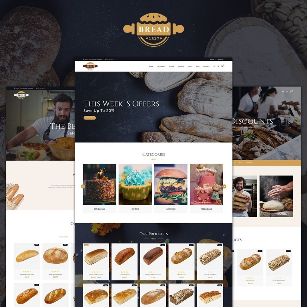 theme - Food & Restaurant - JMS Bread II - 1