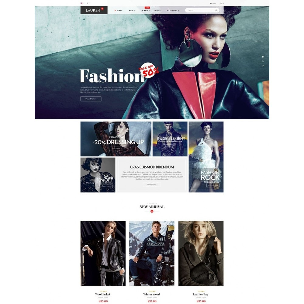 theme - Moda & Calzature - Lauren Fashion - 2