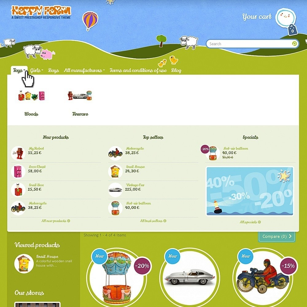 theme - Zabawki & Artykuły dziecięce - Happy Farm - 3