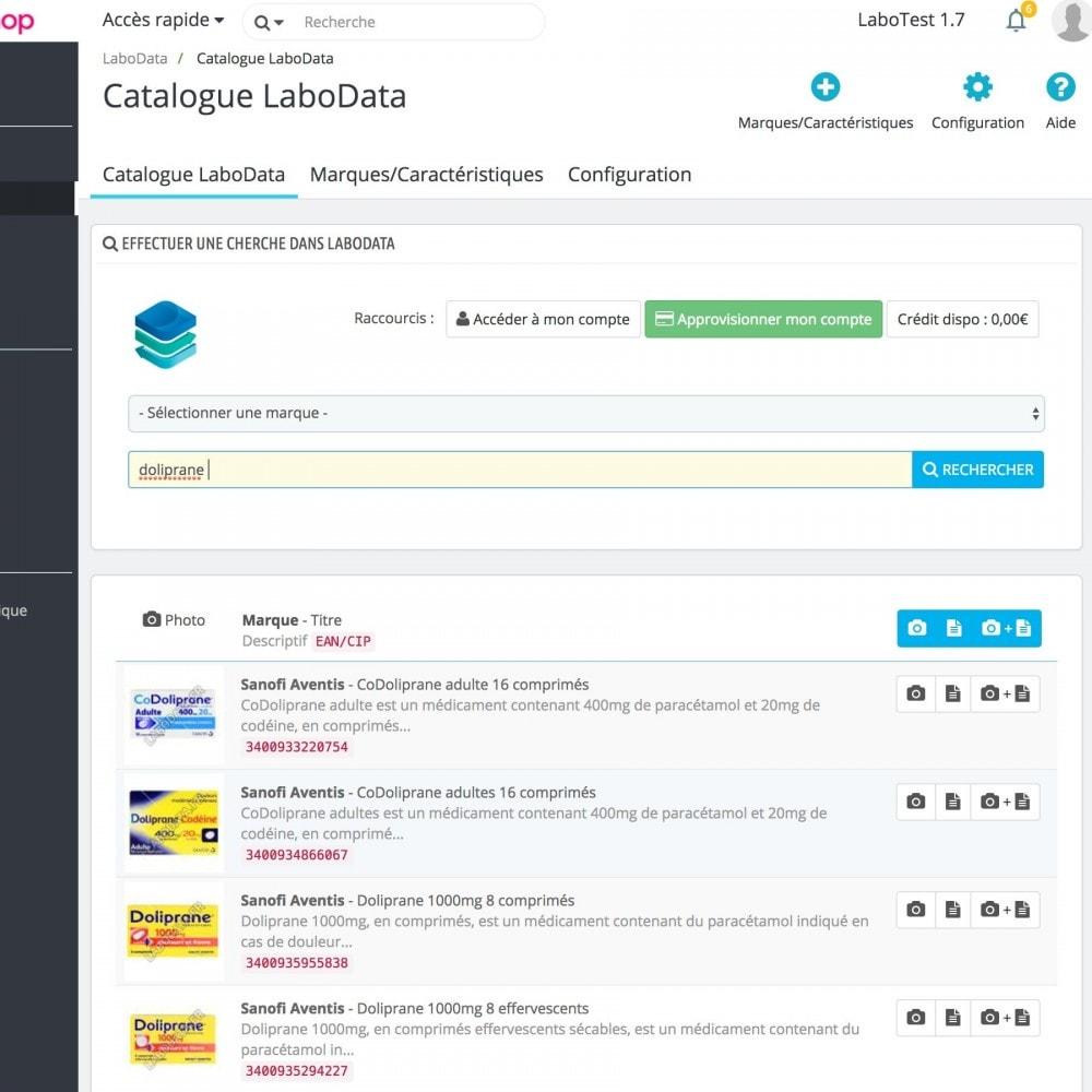 module - Performance du Site - LaboData, fiches produit pharmacies et parapharmacies - 1