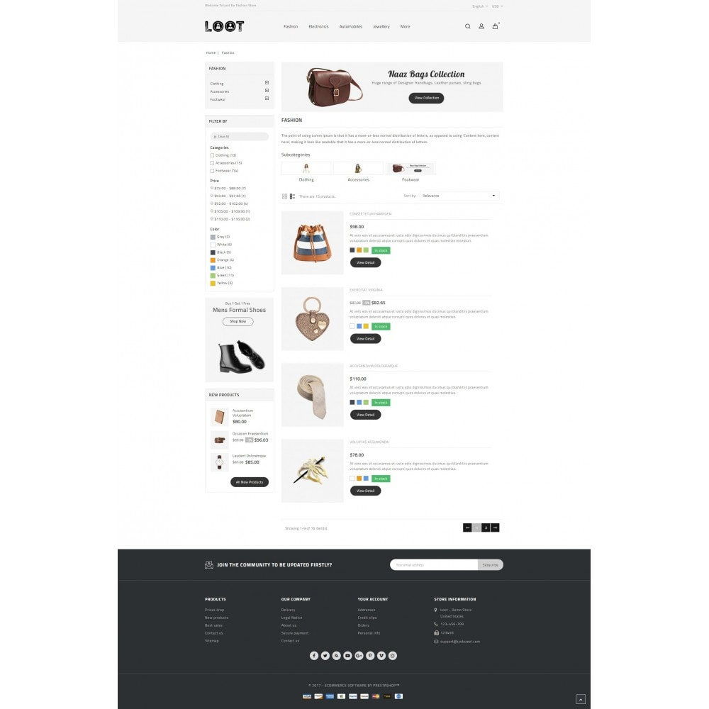 theme - Mode & Chaussures - Loot - Online Fashion Store - 4