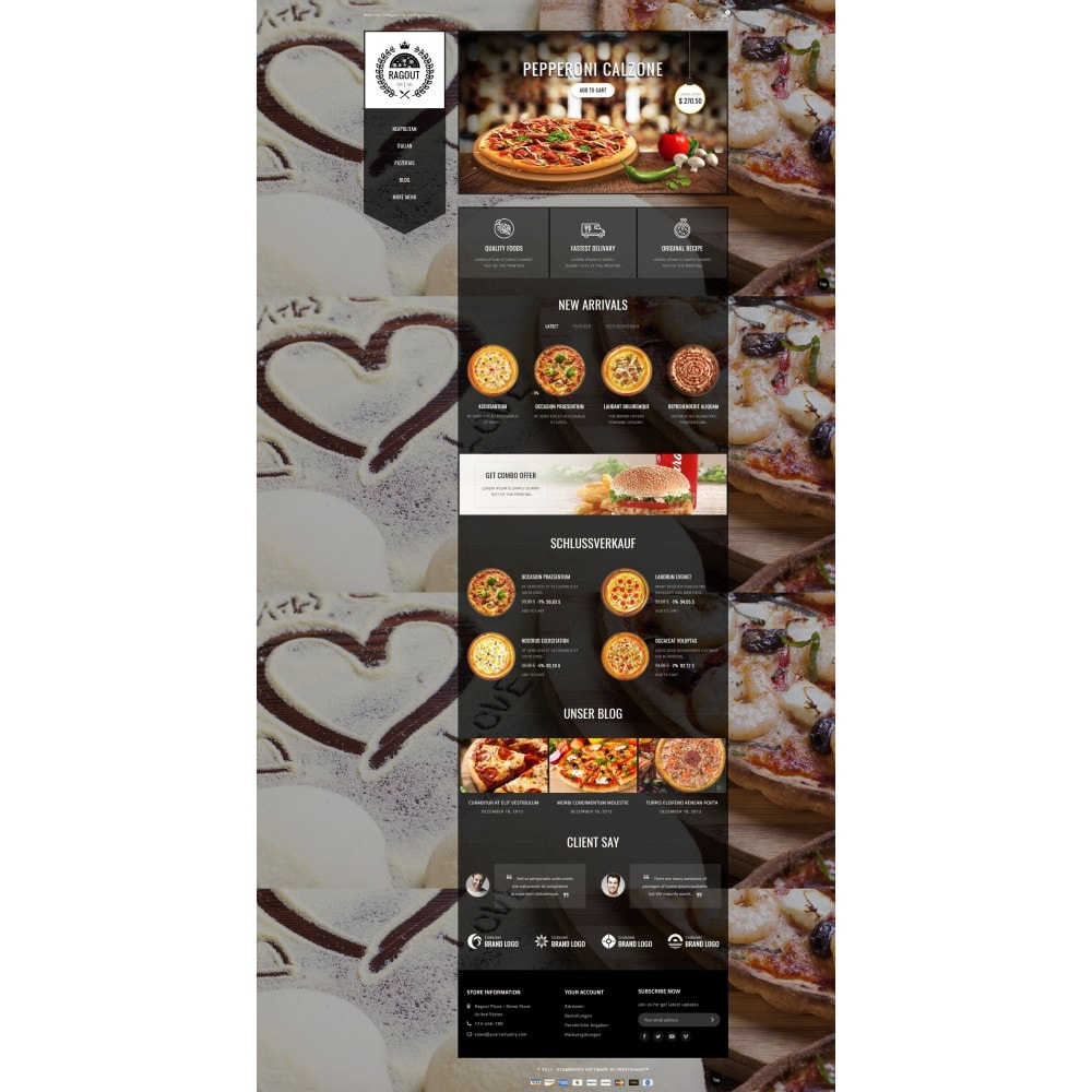 theme - Lebensmittel & Restaurants - Ragout Pizza Store - 2
