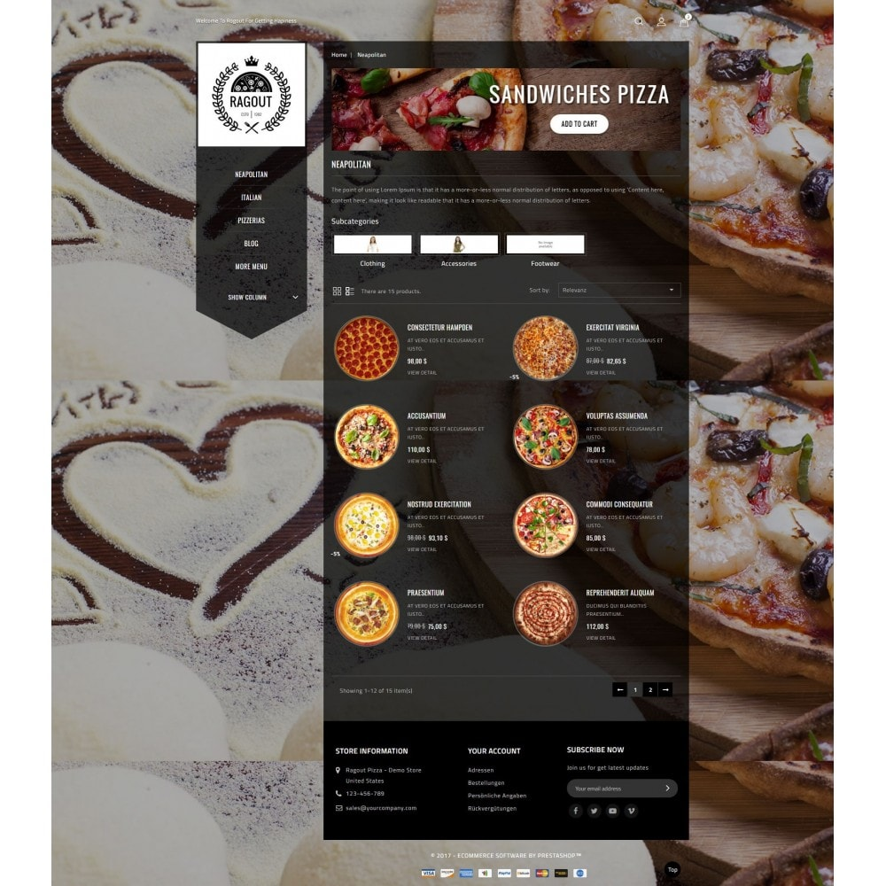 theme - Alimentation & Restauration - Ragout Pizza Store - 4