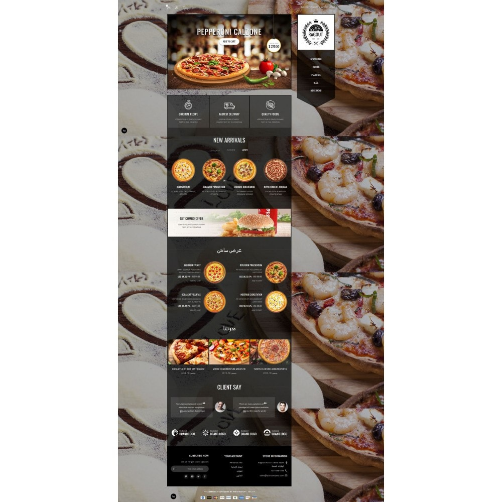 theme - Продовольствие и рестораны - Ragout Pizza Store - 10