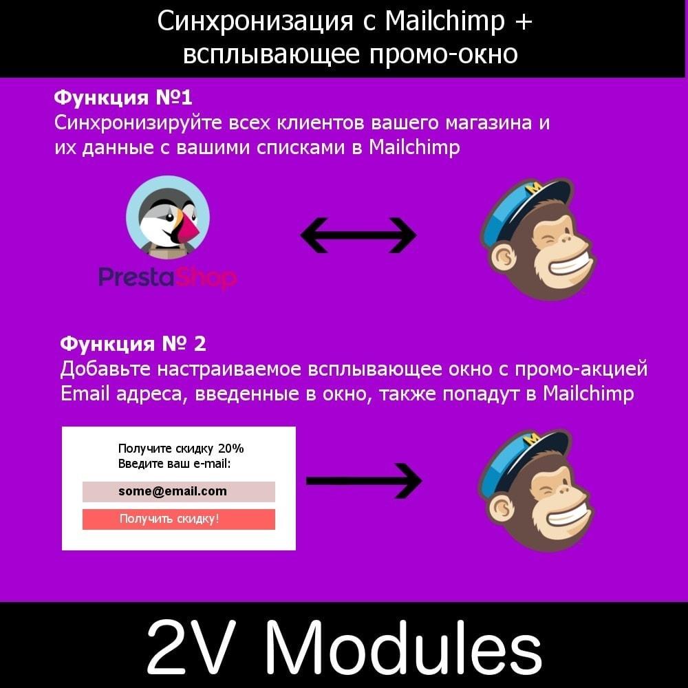 module - Рассылка новостей и SMS - Синхронизация с Mailchimp плюс промо окно - 1