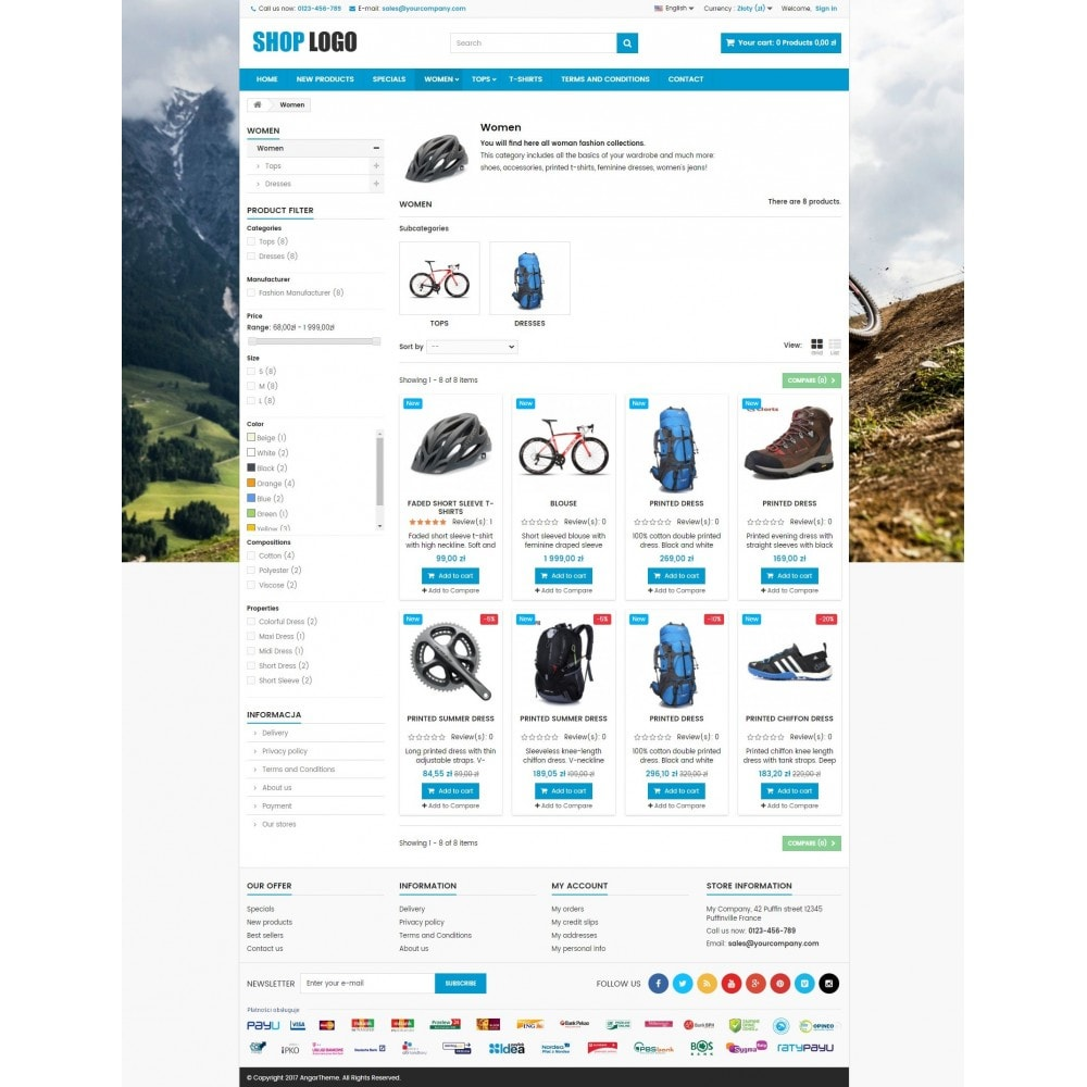 theme - Deportes, Actividades y Viajes - ATS03 Bikes, sport and travel store - 3
