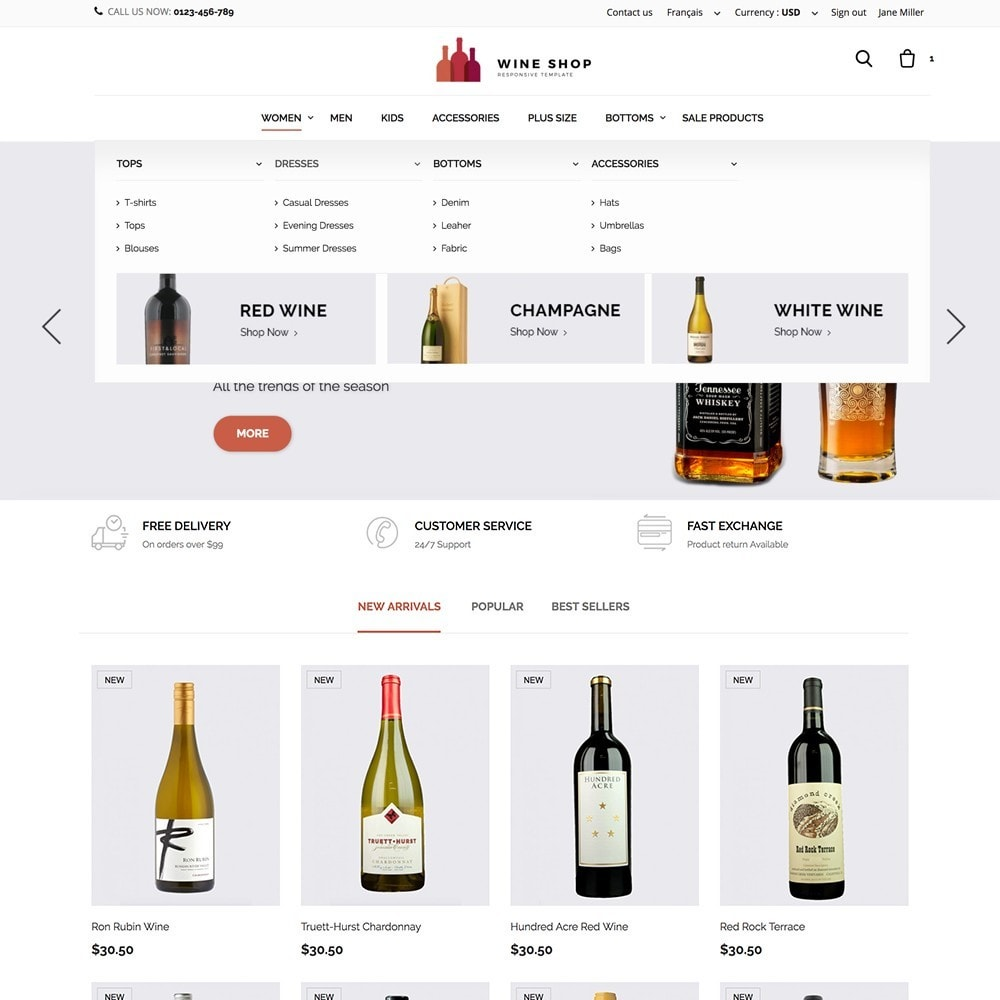 theme - Food & Restaurant - Wineshop - 2