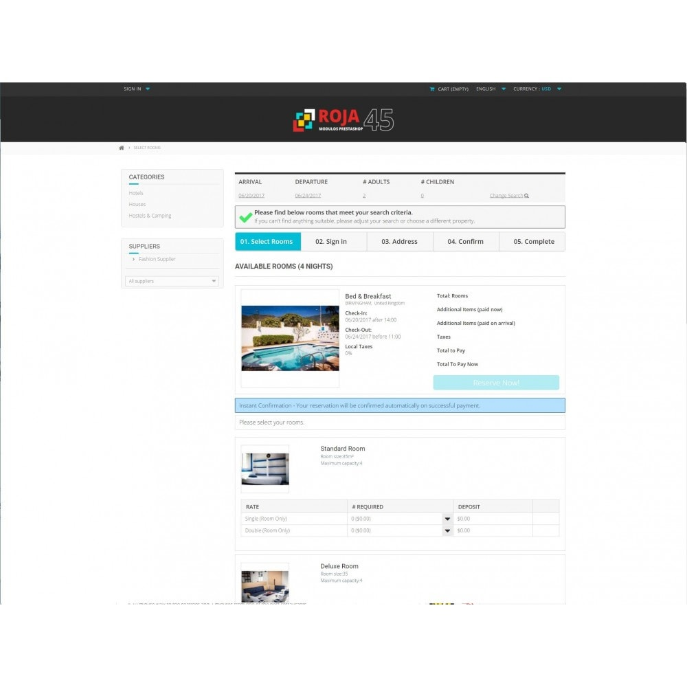module - Reservation & Rental System - Roja45: Property Rental Manager - 2