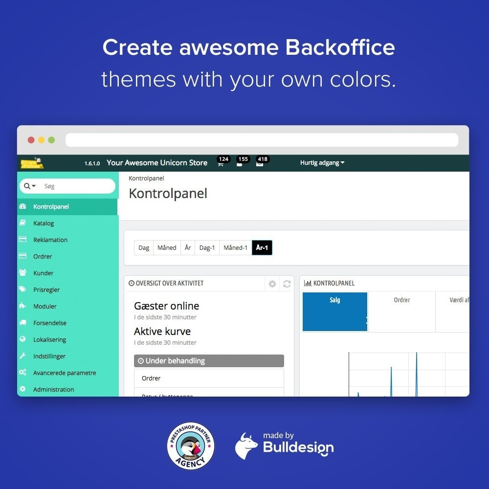 module - Personalizzazione pagine - Backoffice Admin Theme Branding and Login Customizer - 2