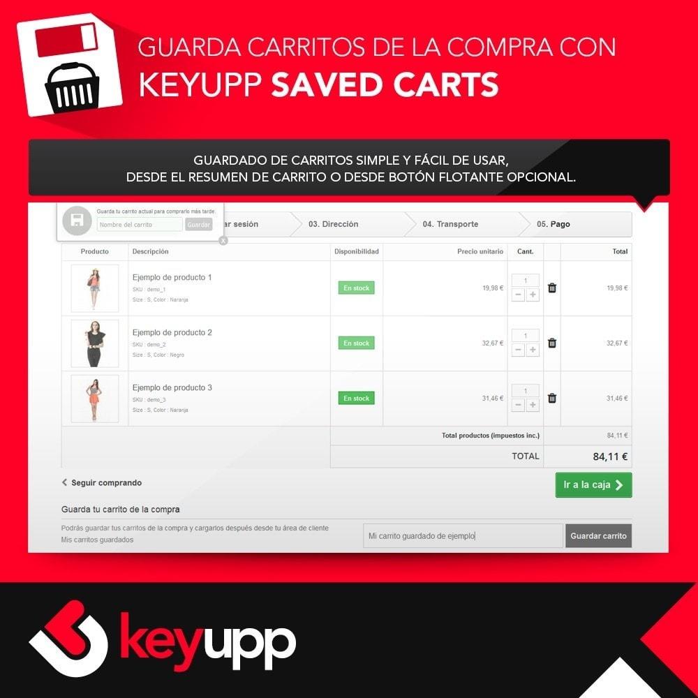 module - Inscripción y Proceso del pedido - Guarda tu carrito de la compra - 3