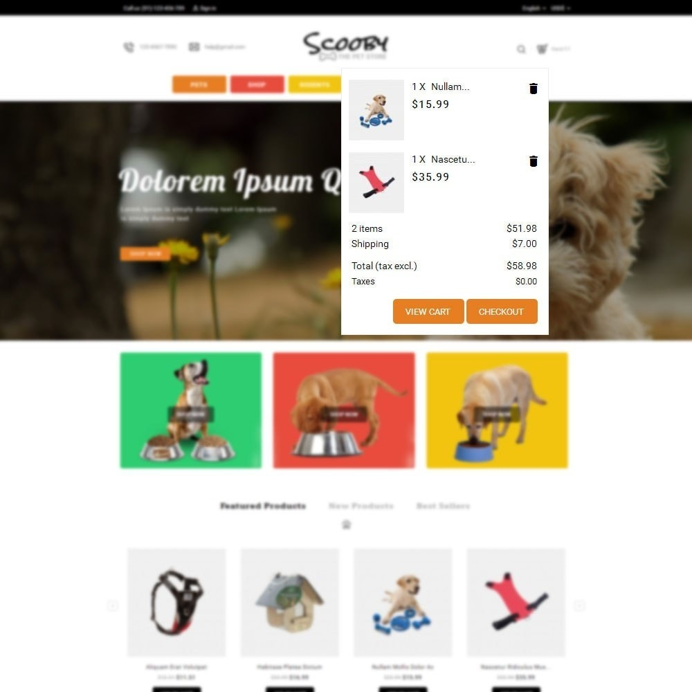 theme - Animales y Mascotas - Scooby pet store - 6