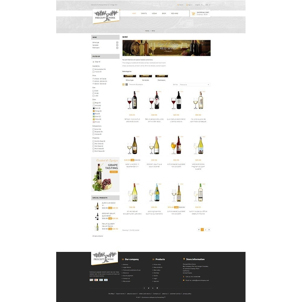 theme - Drink & Tobacco - Precept Wine Store - 3
