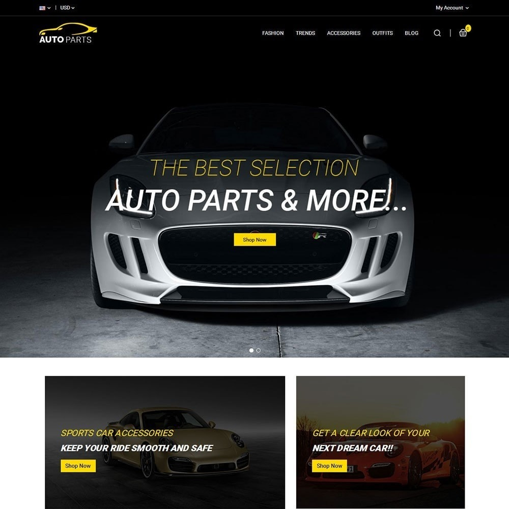 theme - Automotive & Cars - Auto Parts Car Store - 2