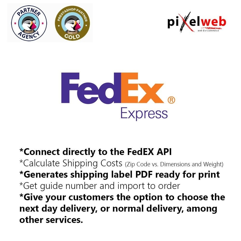 module - Перевозчики - FedEx Oficial : The 1 Plugin ready to use - 1