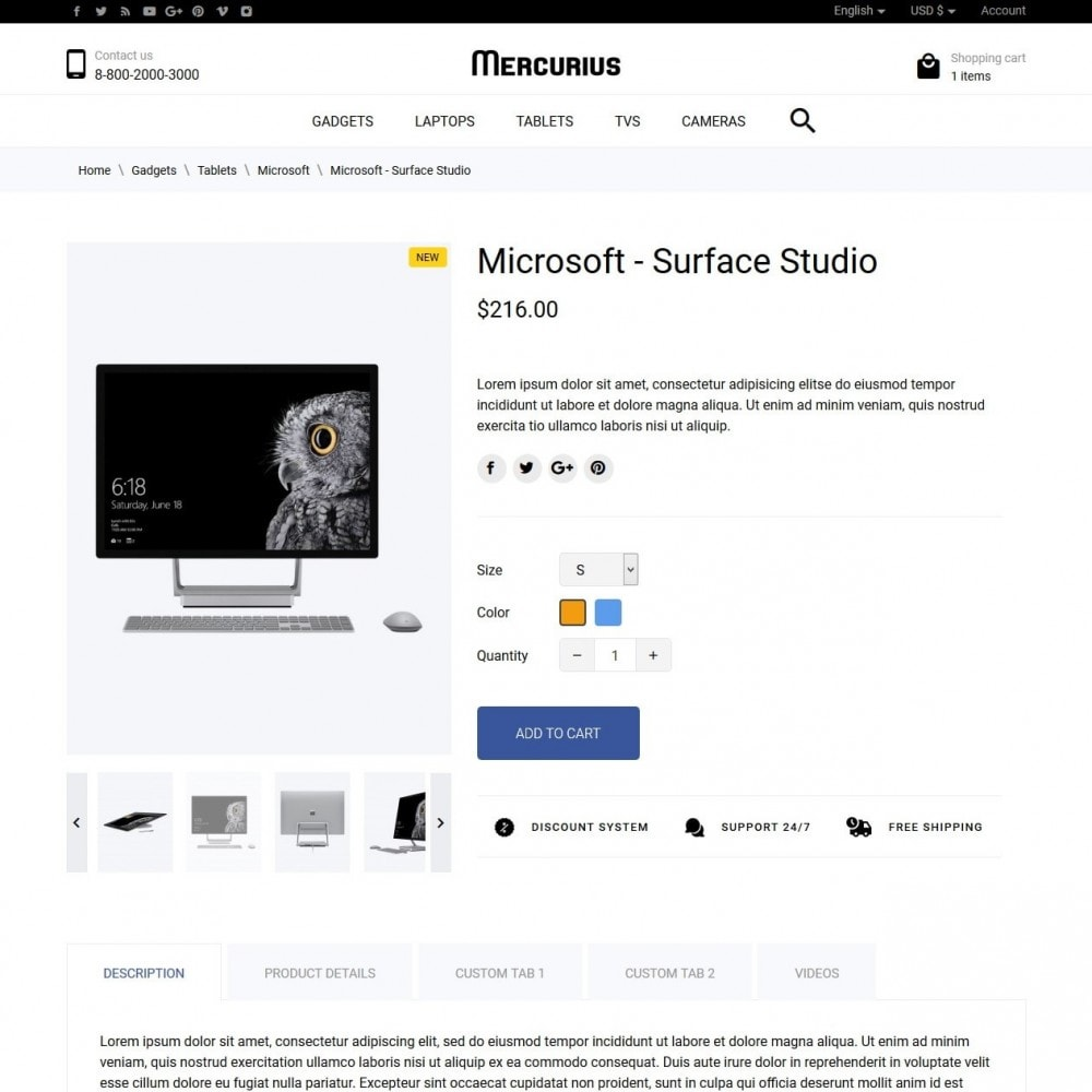 theme - Электроника и компьютеры - Mercurius - High-tech Shop - 7
