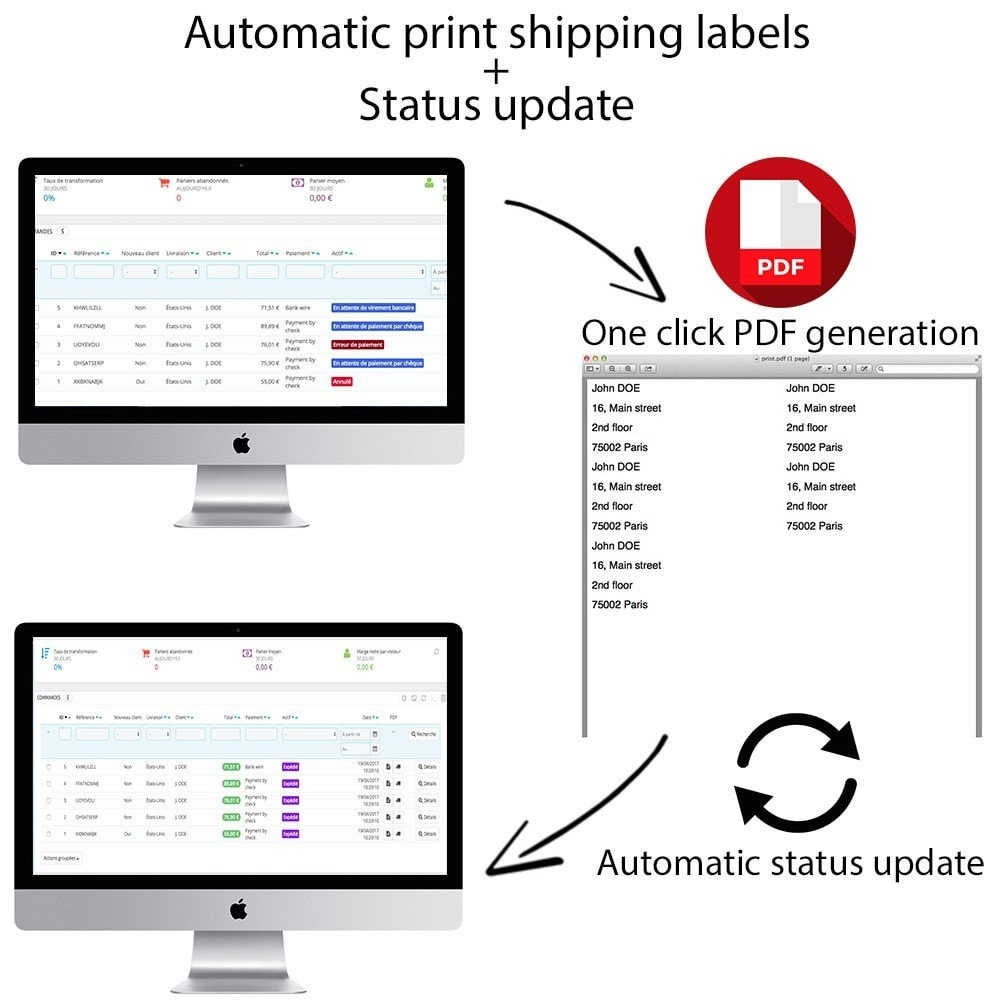 module - Подготовка и отправка - Automatic print shipping labels + Status update - 1