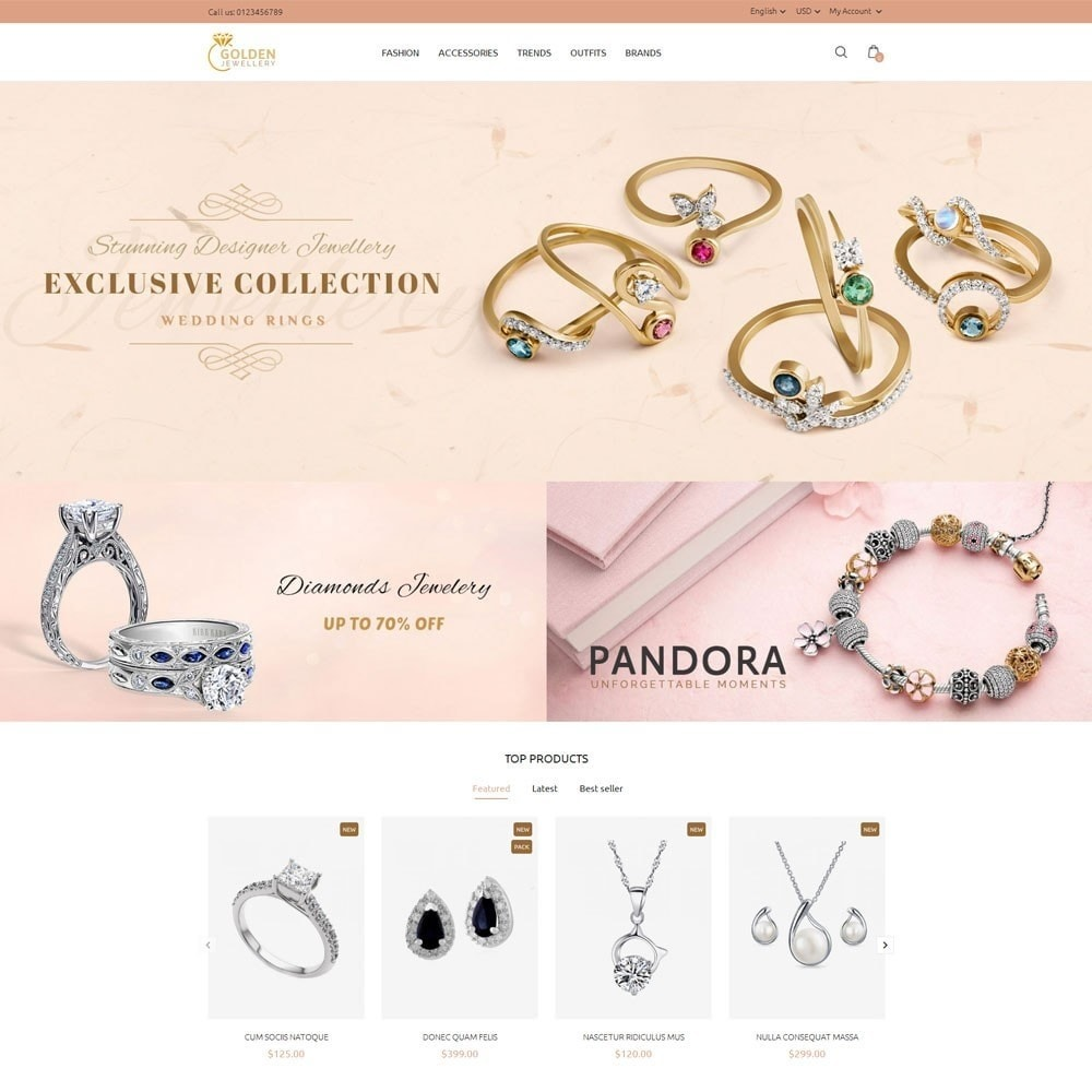 theme - Schmuck & Accesoires - Golden Jewellery Store - 2
