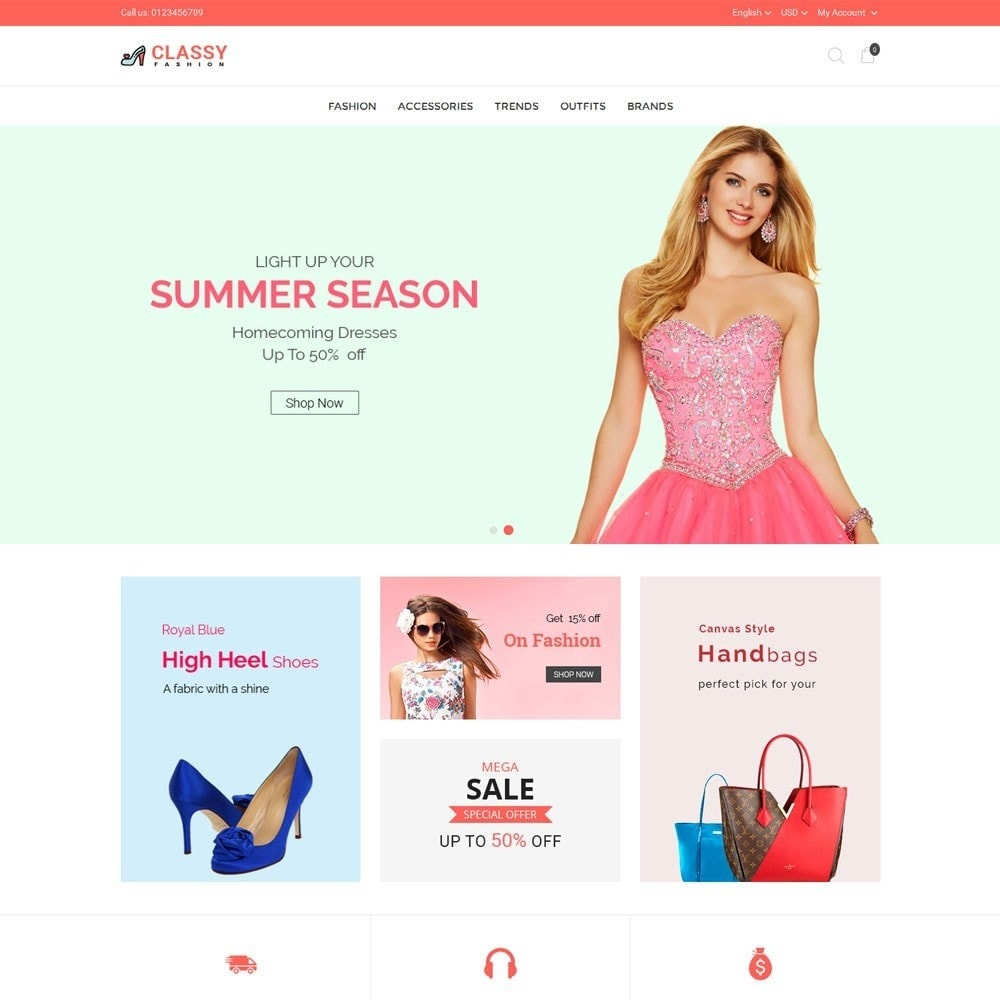theme - Fashion & Shoes - Classy Fashion Store - 2