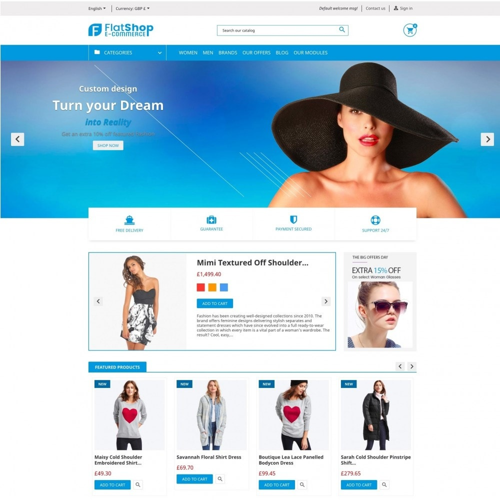 theme - Fashion & Shoes - FlatShop - 2