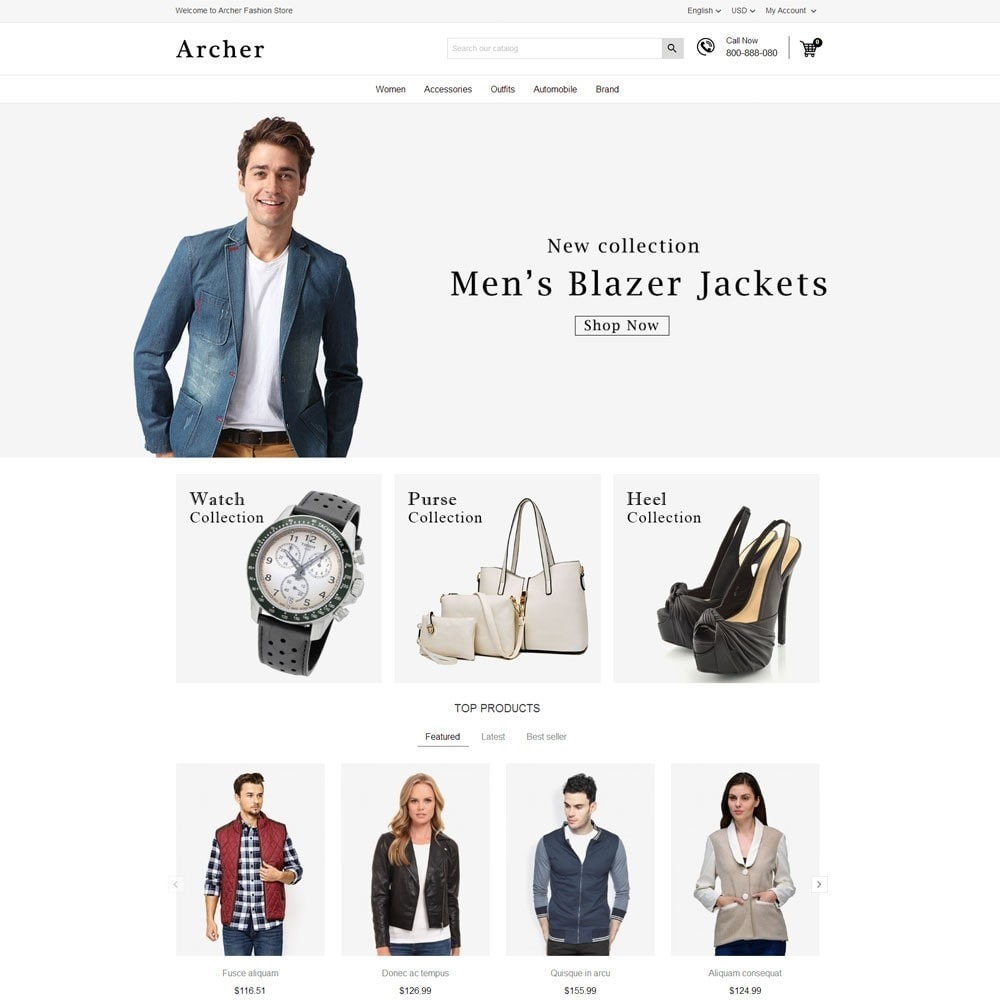theme - Mode & Schuhe - Archer Fashion Store - 2