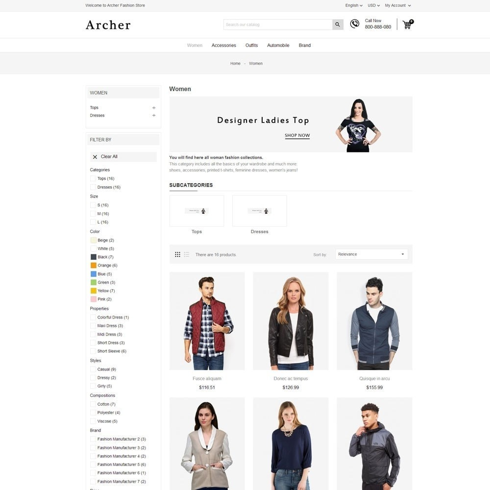 theme - Mode & Schoenen - Archer Fashion Store - 5