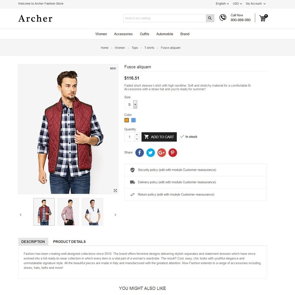 theme - Mode & Schuhe - Archer Fashion Store - 7