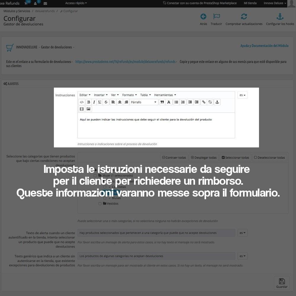 module - Legale (Legge Europea) - Rimborso dei prodotti (Legge di tutela del Consumatore) - 4