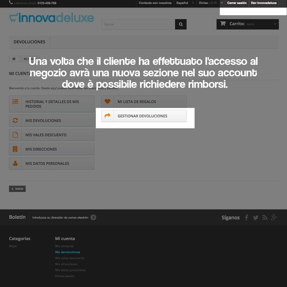 module - Legale (Legge Europea) - Rimborso dei prodotti (Legge di tutela del Consumatore) - 10