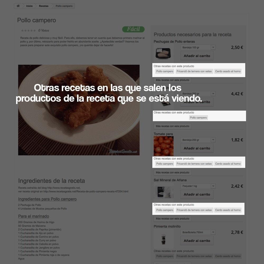 module - Blog, Foro y Noticias - Gestor de recetas con los productos de la tienda - 13