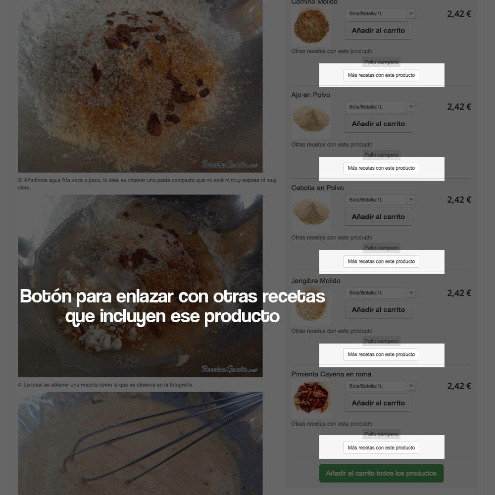 module - Blog, Foro y Noticias - Gestor de recetas con los productos de la tienda - 15